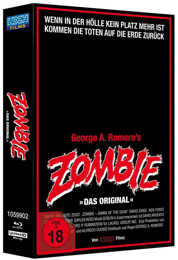 Zombie - Dawn of the Dead (Retro-VHS-Edition mit exklusivem Cover, UHD, 3 Blu-rays)